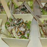 salade met tzaziki van meelwormen