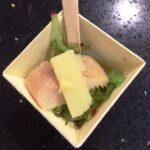 Zeewier salade met forel en bamboe